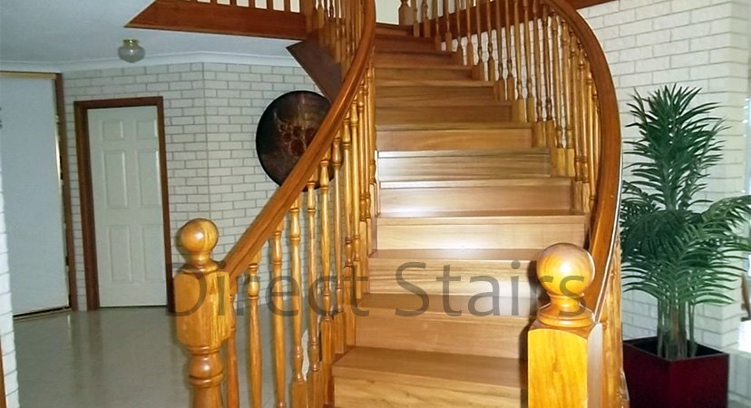 Vertical baluster stairs